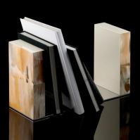 Аксессуары для кабинета Deluxe. Подставка для книг Horn & lacquer by Arca bookends set Светлая