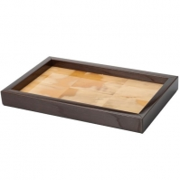 Аксессуары и Мебель для дома. Поднос Horn & lacquer by Arca Tray with Wenge wood trim