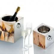 Посуда Столовые приборы Декор стола Deluxe. Вёдра для шампанского и льда Horn & lacquer by Arcahorn Cubic Champagne cooler & ice bucket