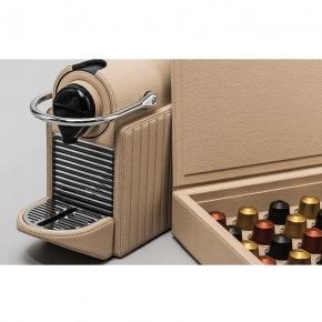 Электрические чайники и кофемашины. Кофемашина кожаная GioBagnara Nespresso Pixie