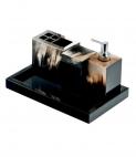 Аксессуары для ванной настольные. Аксессуары для ванной настольные Horn & lacquer Black by Arcahorn