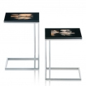 Журнальные Приставные Кофейные столы. Стол приставной Horn & lacquer Ivory by Arcahorn San Marino