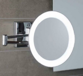 Зеркала косметические с подсветкой увеличением настенные настольные Зеркала с присосками. Зеркало настенное с подсветкой и проводом с 3-х кратным увеличением DISCOLOLED 36/2KK3
