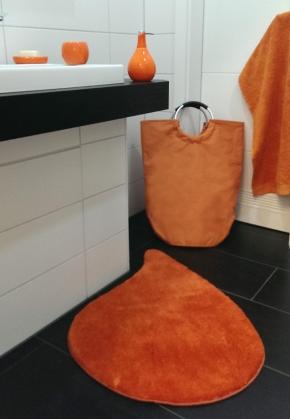 Корзины для белья. Корзина для белья текстильная сумка с ручками Orange