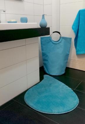Корзины для белья. Корзина для белья текстильная сумка с ручками Aqua