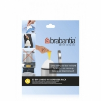 Мусорные баки и вёдра для кухни. Пакеты для мусора Brabantia (упаковка-диспенсер) 3л 60шт. (размер A)