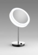 Зеркала косметические с подсветкой увеличением настенные настольные Зеркала с присосками.  LineaBeta зеркало с подсветкой LED и увеличением косметическое настольное