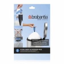 Мусорные баки и вёдра для кухни. Пакеты для мусора Brabantia (упаковка-диспенсер) 20л 40шт. (размер E)