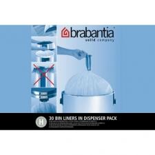 Мусорные баки и вёдра для кухни. Пакеты для мусора Brabantia (упаковка-диспенсер) 40/50л 30шт. (размер H)