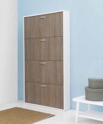 Итальянские постирочные раковины Мебель и оборудование для постирочной комнаты. Шкаф для обуви Colavene белый Дуб Rovere четыре полки