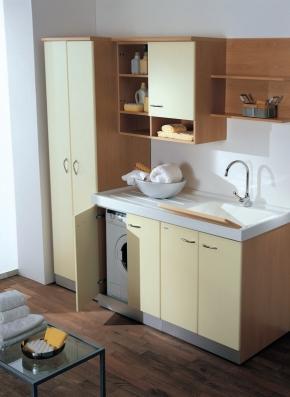 Итальянские постирочные раковины Мебель и оборудование для постирочной комнаты. Мебель для постирочной тумба с раковиной с крылом для стиральной машины Lavatrice SX