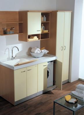 Итальянские постирочные раковины Мебель и оборудование для постирочной комнаты. Мебель для постирочной тумба с раковиной с крылом для стиральной машины Lavatrice DX