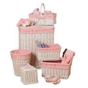 . Корзины плетёные набор 6 предметов Baby's Learn & Store Collection Сreative Bath светлый