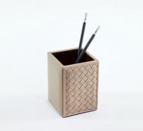Аксессуары для кабинета Deluxe. Стакан для ручек Ivory кожаный