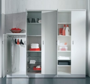 Итальянские постирочные раковины Мебель и оборудование для постирочной комнаты. Lavatoi Medio Мебель для постирочной комнаты шкафы высокие