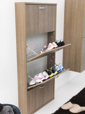 Итальянские постирочные раковины Мебель и оборудование для постирочной комнаты. Шкаф для обуви Colavene Дуб Rovere четыре полки