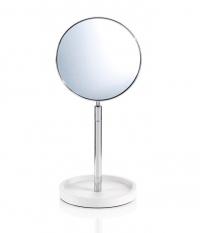 Зеркала косметические с подсветкой увеличением настенные настольные Зеркала с присосками. Настольное косметическое зеркало двухстороннее с увеличением 1х4 Stone