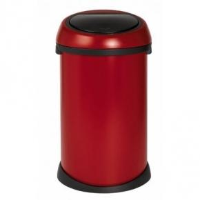 Мусорные баки и вёдра для кухни. Мусорный бак Brabantia Touch BinВ® 50 литров Deep Red тёмно-красный