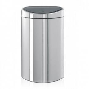 Мусорные баки и вёдра для кухни. Мусорный бак TOUCH BIN двухсекционный 10/23 литров Brilliant Steel полированная сталь