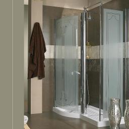 Душевые кабины Створки стеклянные Шторки для душа. Lineatre Louvre 99601 Душевая уголок 150х90хh209 см