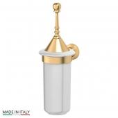 Аксессуары для ванной настенные. Держатель с туалетным ершом с крышкой хром-золото 3SC STILMAR STI 324
