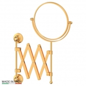 Зеркала косметические с подсветкой увеличением настенные настольные Зеркала с присосками. Косметическое зеркало двухстороннее золотое 1x2 3SC STILMAR STI 220