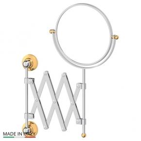 Зеркала косметические с подсветкой увеличением настенные настольные Зеркала с присосками. Косметическое зеркало двухстороннее хром-золото 1x2 3SC STILMAR STI 120