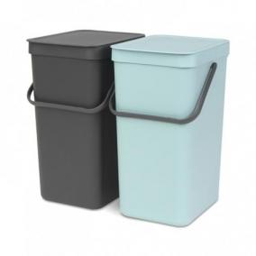 Мусорные баки и вёдра для кухни. Набор ведер для мусора SORT&GO 16л (2шт)