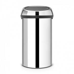 Мусорные баки и вёдра для кухни. Мусорный бак TOUCH BIN 60 литров Brilliant Steel полированная сталь