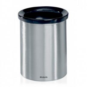 Вёдра с педалью Дровницы Вёдра. Настольный контейнер для мусора от заваривания чая и кофе Brabantia Matt Steel матовая сталь