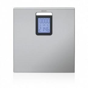 Весы напольные для ванной и сауны. Весы для ванной комнаты Brabantia Matt Steel матовая сталь