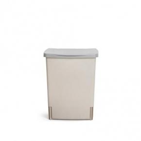 Мусорные баки и вёдра для кухни. Ведро для мусора Brabantia встраиваемое квадратное 10 литров Grey серое