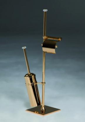Стойки напольные с ёршиком бумагодержателем, полотенцедержателем и высокие. Стойка с ёршиком и бумагодержателем Cristal et Bronze Cannelé