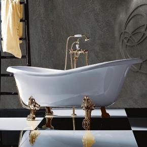 Ванны на ножках. TW 176 Ванна на лапах, белый/золото