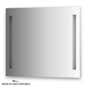 Зеркала для ванной. Зеркало с 2-мя встроенными LED-светильниками 12 W 80х70 cm ELLUX Linea LED LIN-A2 9120