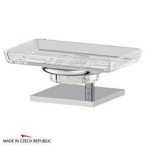 Аксессуары для ванной настольные. Держатель с мыльницей настольный - комплект ELLUX Domino DOM 002-C03