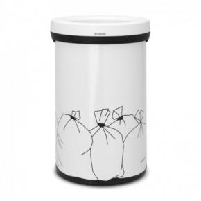 Мусорные баки и вёдра для кухни. Мусорный бак с открытой крышкой 60 литров White белый 2