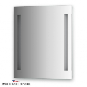 Зеркала для ванной. Зеркало с 2-мя встроенными LED-светильниками 12 W 60х70 cm ELLUX Linea LED LIN-A2 9116