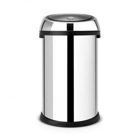 Мусорные баки и вёдра для кухни. Мусорный бак TOUCH BIN 50 литров Brilliant Steel полированная сталь