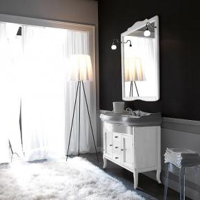 Мебель для ванной комнаты. База Kerasan Retro 7347 напольная с раковиной и зеркалом