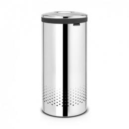 Корзины для белья. Бак для белья 35 литров Brilliant Steel полированная сталь