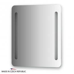 Зеркала для ванной. Зеркало с 2-мя встроенными LED-светильниками 12 W 60х70 cm ELLUX Linea LED LIN-B2 9302