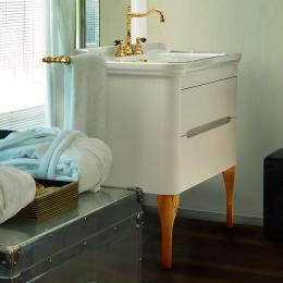 Мебель для ванной комнаты. Kerasan Waldorf База подвесная под раковину 80см, цвет матовый белый/золото