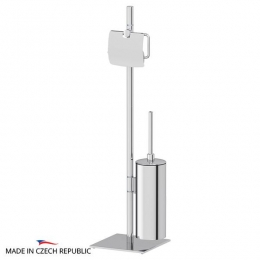 Стойки напольные с ёршиком бумагодержателем, полотенцедержателем и высокие. Стойка с 2-мя аксессуарами для туалета 72 cm ELLUX Domino DOM 009