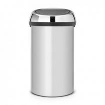 Мусорные баки и вёдра для кухни. Мусорный бак TOUCH BIN 60 литров Metallic Grey серый металлик