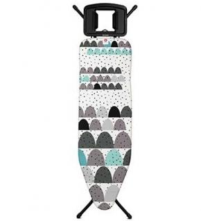 Гладильные доски. Гладильная доска 124Х38см (размер B) со стационарной подставкой для утюга, цвет каркаса Black чёрный