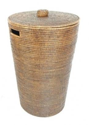 Корзины для белья. Раттан Rattan корзина для белья плетёная хранения с крышкой натуральный тёмный Большая