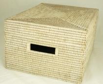 Хранение и порядок. Раттан Rattan плетёный короб с крышкой Светлый