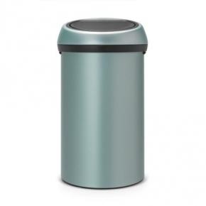 Мусорные баки и вёдра для кухни. Мусорный бак TOUCH BIN 60 литров Metallic Mint мятный металлик