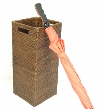 Подставки для зонтов. Раттан Rattan плетёная подставка для зонтов квадратная